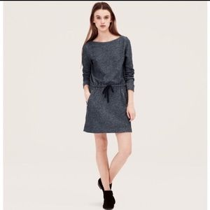 Lou & Grey Navy Sweatshirt Dress S